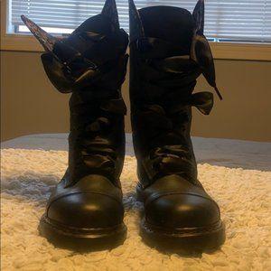 Doc Martens NWOT Black Combat Boots/Floral Insert